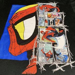 Marvel Spiderman comic book tee medium
